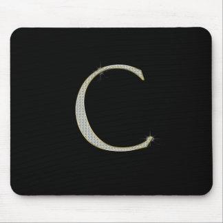 Bling Monogram - Initial C Mouse Pad