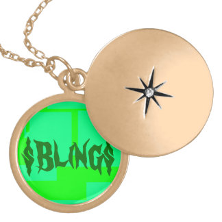 Bling. Round Locket Necklace