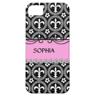 BLING PINK French Fleur de Lis IPHONE 5 COVER