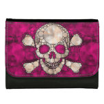 Bling (pink) Skull and Bones Leather Wallet