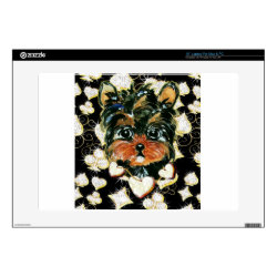 17' Laptop Skin for Mac & PC with Yorkshire Terrier Phone Cases design