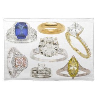 Bling Put A Ring On It Weddiing Engagement Rings Cloth Placemat