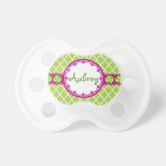 Bling Quatrefoil Pacifier Personalized Baby Gifts BooginHead Pacifier