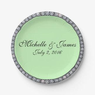 Bling ring paper plates