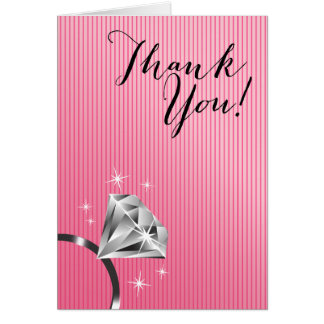 Bling Ring Thank You | pink Card
