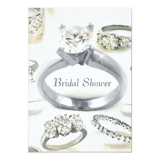 Bling Rings Bridal Shower Invitation