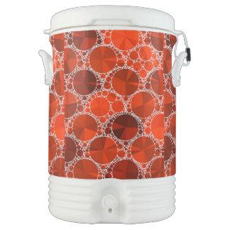 Bling rojo refrigerador de bebida igloo