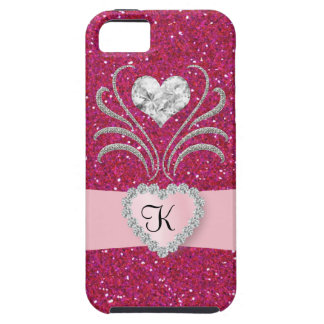 Bling - rosa del amor - caso iPhone5 iPhone 5 Case-Mate Protectores