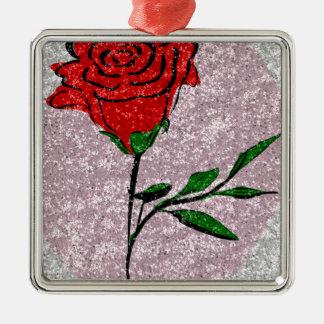 Bling Rose Metal Ornament