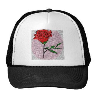 Bling Rose Trucker Hat