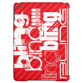 Bling; Scarlet Red Stripes iPad Air Cases