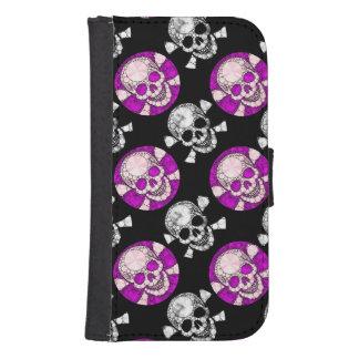 Bling Skull and Bones Samsung Galaxy Wallet Case Galaxy S4 Wallet Case