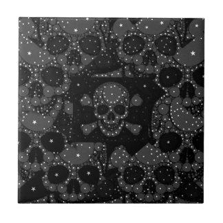 Bling Skull and crossbones Ceramic Tile