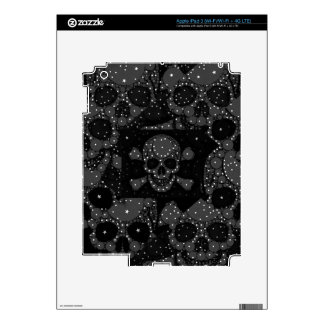 Bling Skull and crossbones iPad 3 Decal