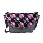 Bling Skull&Bones (pink,Blk) Rickshaw Bags Courier Bags