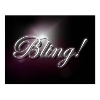 """Bling!"" slogan postcard"