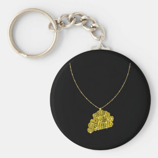 Bling Small Basic Round Button Keychain