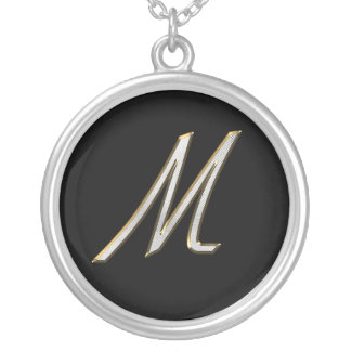 Bling Staplers Monogram Necklaces