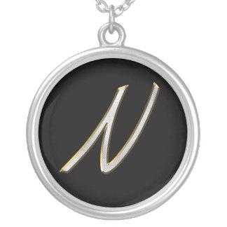 Bling Staplers Monogram Necklaces