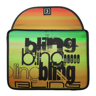 Bling; Verde vibrante, naranja, y amarillo Funda Macbook Pro