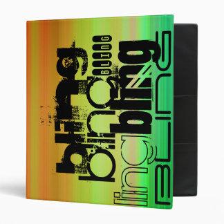 Bling; Vibrant Green, Orange, & Yellow Vinyl Binder