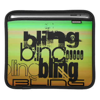 Bling; Vibrant Green, Orange, & Yellow Sleeves For iPads