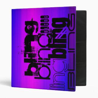 Bling; Vibrant Violet Blue and Magenta Vinyl Binders