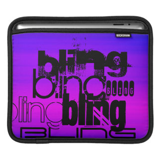 Bling; Vibrant Violet Blue and Magenta iPad Sleeve