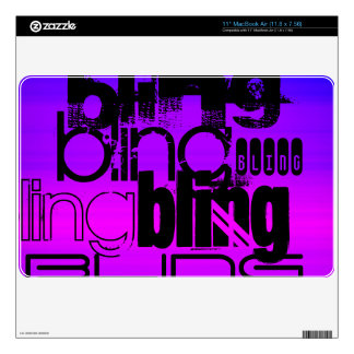 Bling; Vibrant Violet Blue and Magenta MacBook Decals