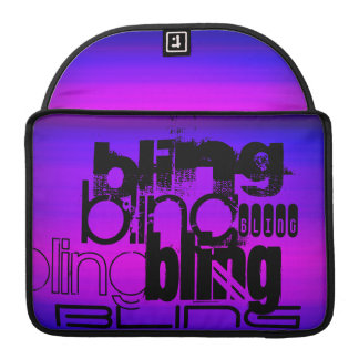Bling; Vibrant Violet Blue and Magenta Sleeves For MacBooks