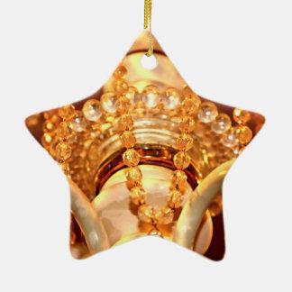 Bling yo ornamento lamentable de la estrella de la adorno navideño de cerámica en forma de estrella