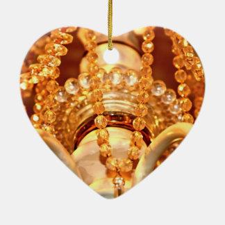 Bling yo ornamento lamentable del corazón de la adorno navideño de cerámica en forma de corazón