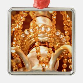 Bling yo ornamento Sq de la lámpara lamentable del Adorno Navideño Cuadrado De Metal