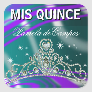 Blinged Out Quinceañera Sparkling Tiara Stickers