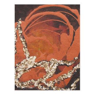 Blingy Rose Postcard