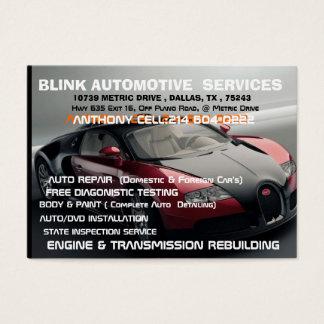 BLINK AUTOMOTIVE  10739 METRIC DRIVE Dallas Business Card