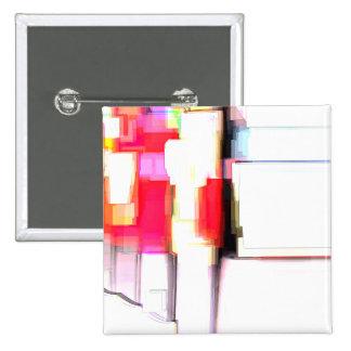 """Blink"" Digital Abstract Pinback Button"