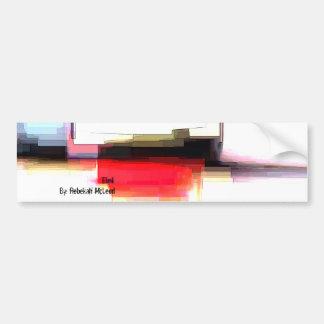 """Blink"" Geometric Art Bumper Sticker"