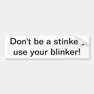 blinker2 bumper sticker