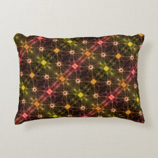 Blinking Colorful Lights Magic Pattern Accent Pillow