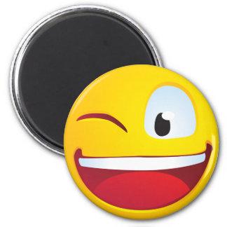 Blinking Smile 2 Inch Round Magnet