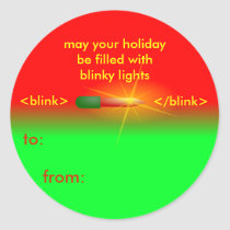 Blinky Light HTML Christmas Tag