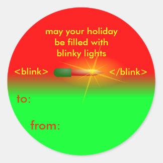blinky light christmas tags