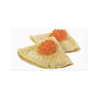 Bliny and Caviar Canvas Print