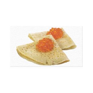 Bliny and Caviar Canvas Print