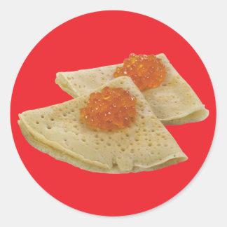 Bliny and Caviar Classic Round Sticker