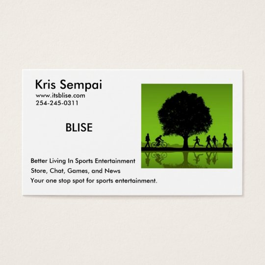 BLISE Sports Business Card
