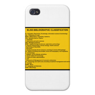 Bliss Bibliographic Classification System iPhone 4 Cases