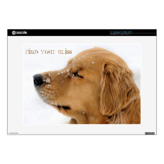 "Bliss Golden Retriever 15"" Laptop Skins"
