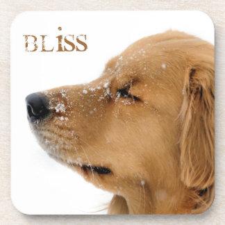Bliss Golden Retriever Beverage Coaster